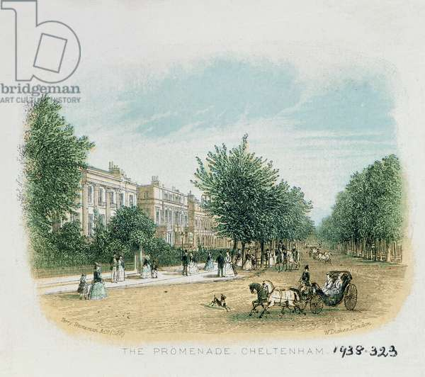 The Promenade, Cheltenham (colour litho)