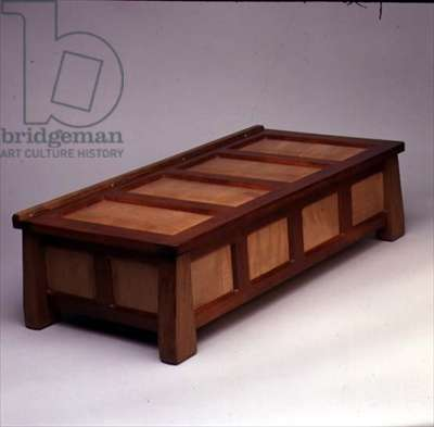 Casket, 1988 (Cuban mahogany, pearwood & walnut)