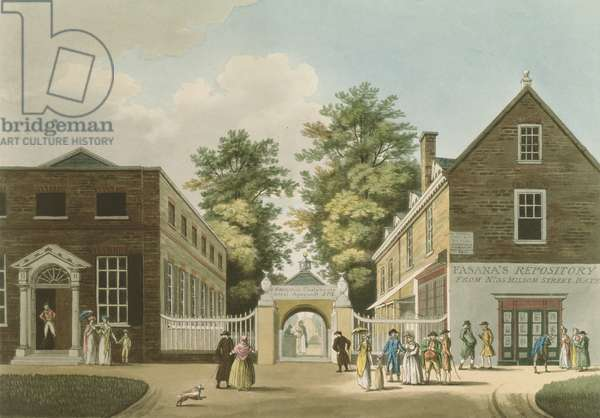 Old Wells and Pump Room, Cheltenham (aquatint)