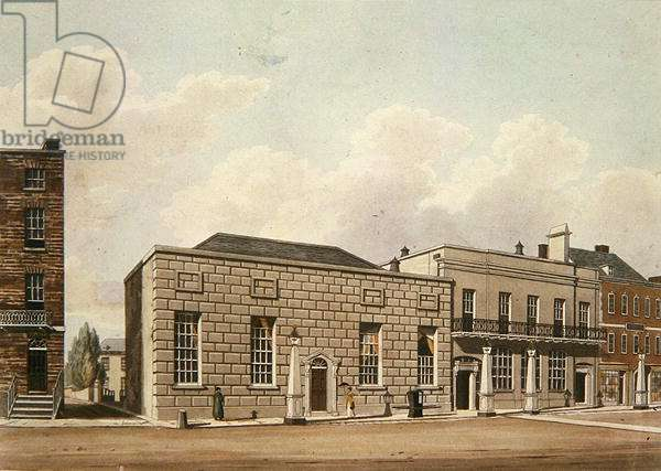 The Assembly Room, Cheltenham, 1813 (colour litho)