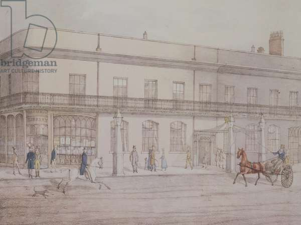 Assembly Rooms & Williams' Library, Cheltenham, 1821 (litho)