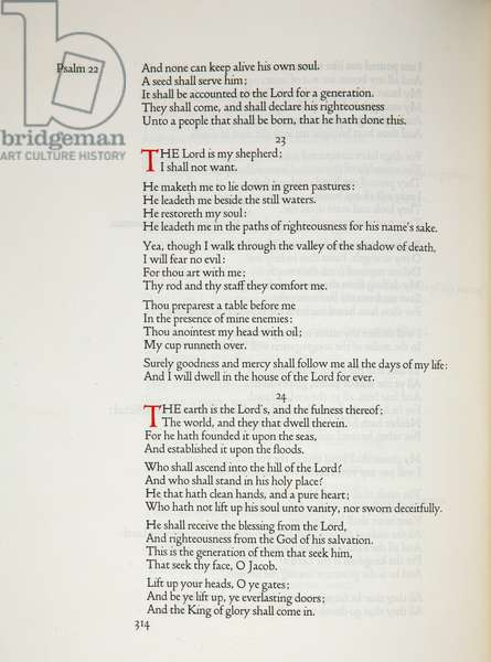 'The Lord is my Shepherd', p.314 of 'The English Bible', edited by the Rev. Scrivener, 1903-05 (print)