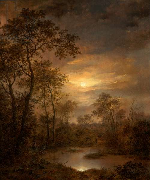 Moonlight Scene (painting on panel), 1815-1845