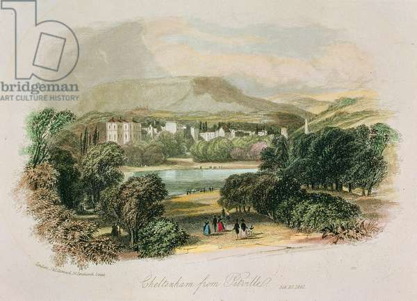 Cheltenham: from Pittville, 1841 (colour litho)