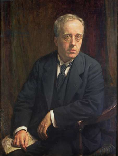 Portrait of Gustav Holst, 1923 (oil on canvas)