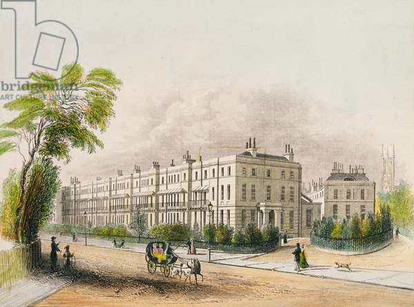 Lansdown Place, Cheltenham, engraved by lithograph by M.D. Eichbaum, c.1845 (colour litho)