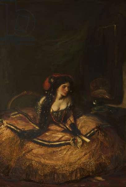 Lillah McCarthy, as 'Donna Anna', oil on canvas, 20th century