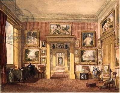 The Dining Room at Thirlestaine House, Cheltenham, c.1843 (w/c)