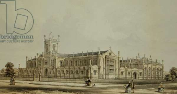 Cheltenham College, 1856 (colour litho)