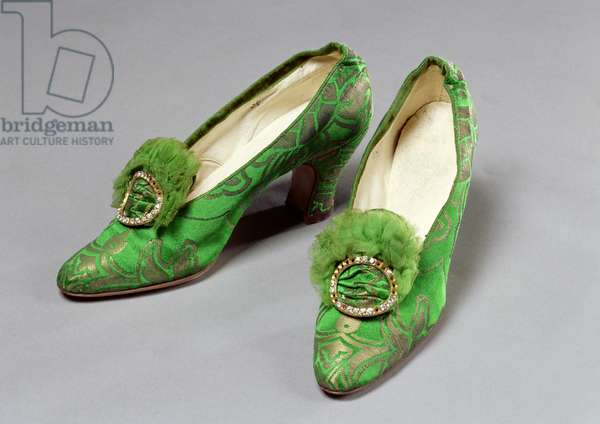 Woman's shoes, 1920s (silk & diamante)
