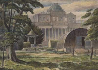 Nissen Huts Outside the Pittville Pump Room, Cheltenham, 1939