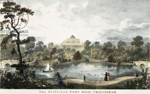 The Pittville Pump Room, Cheltenham, c.1835 (coloured engraving)