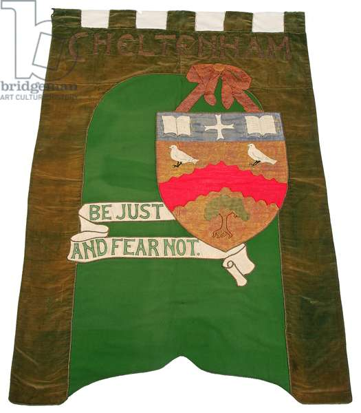 Banner, 1908–13 (mixed fabrics with applied paint)