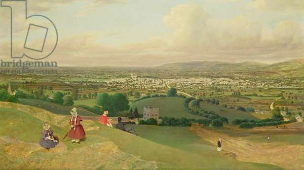 Cheltenham from Leckhampton Hill, c.1840 (oil on canvas)