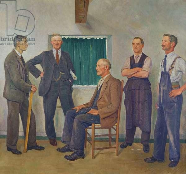 Oakridge Craftsmen, 1930s (oil on canvas)