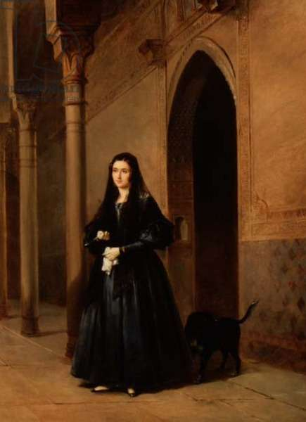 Lady in the Court of the Alhambra