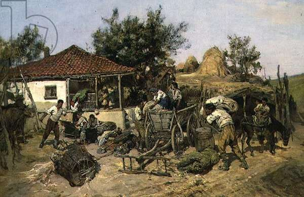 Peasants Loading a Cart