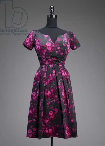 Evening gown, c.1953 (front view), Silk velour, Christian Dior, France