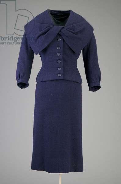 Dress, 1954 (front view), Wool crepe, Christian Dior, Paris