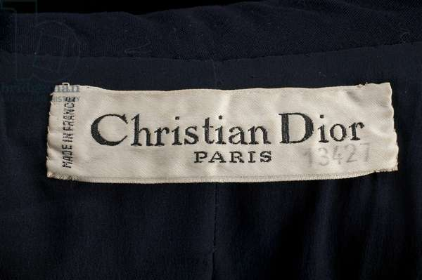 Designer label inside jacket, 1951, Wool, Christian Dior, Paris