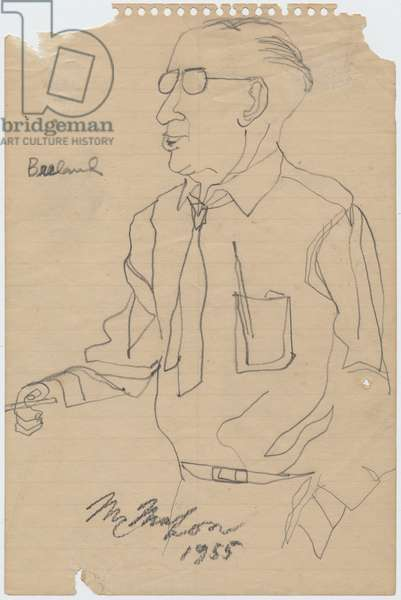 Jesse Breeland, 1955 (pencil on paper)