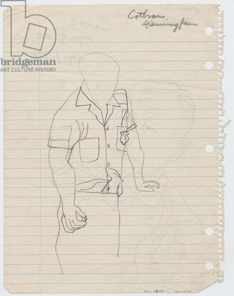 Deputy Sheriff Cothran, 1955 (pencil on paper)
