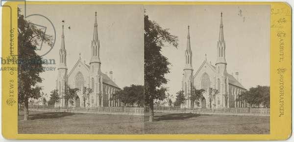 Stereoscopic view of Unity Church, c.1870 (b/w photo)