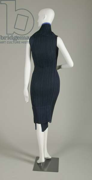 Evening dress, 2008 (back view), Pleated polyester, Issey Miyake, Japan.