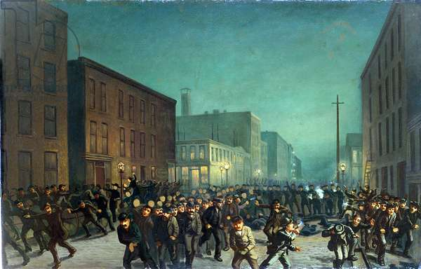 The Haymarket Riots, Chicago 1st May 1866, c.1886 (oil on canvas)
