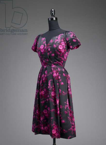 Evening gown, c.1953 (front oblique view), Silk velour, Christian Dior, France