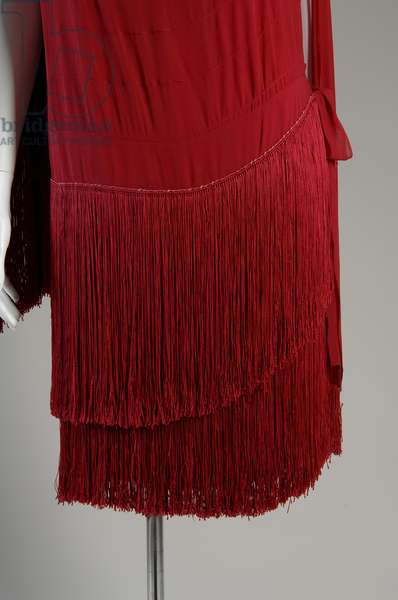 """Evening dress, c.1925 (partial view of hem), Gabrielle """"Coco"""" Chanel, France Silk chiffon with silk fringe"""