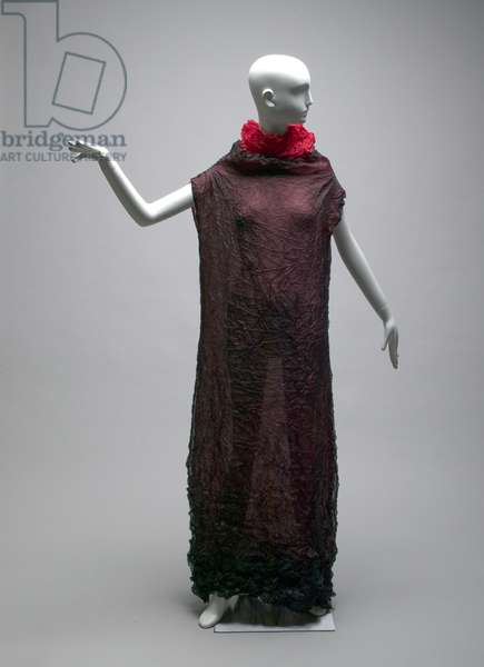 Evening gown, c.1990 (front view), Wrinkled polyester, Issey Miyake, Japan.