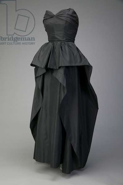 Evening dress, c.1948 (front oblique view), Silk taffeta, Christian Dior, Paris
