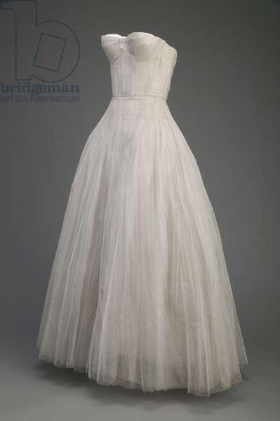 Evening dress, 1953 (front oblique view), Silk taffeta, Christian Dior, Paris