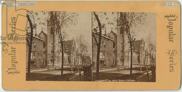Church of the Holy Name, Chicago, c.1870 (b/w photo)
