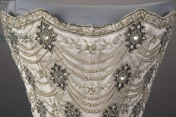 Wedding dress bodice, 1896