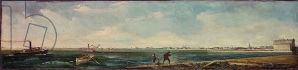 Michigan Avenue from the Eastern Extension of the North Pier, Chicago, 1865 (oil on canvas)