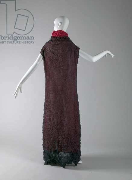 Evening gown, c.1990 (back view), Wrinkled polyester, Issey Miyake, Japan.