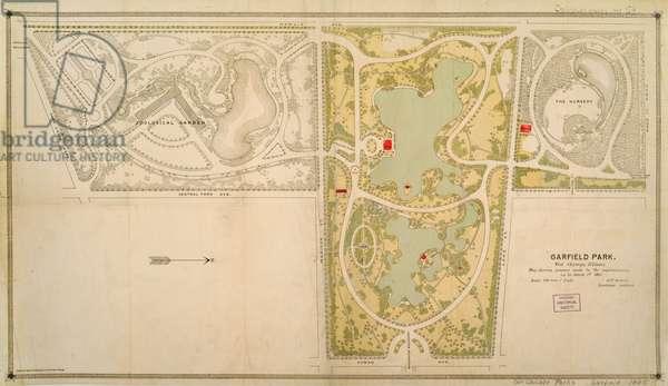 Map of Garfield Park, Chicago, Illinois, 1885
