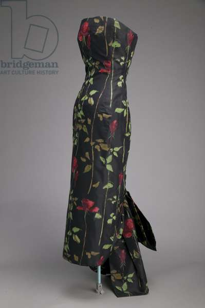 Evening dress, 1957 (front oblique view), Silk taffeta, Christian Dior, Paris
