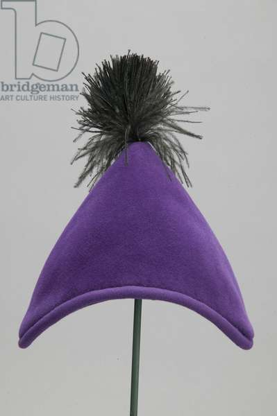Hat, c.1955 (front view), Silk velvet, Christian Dior, Paris
