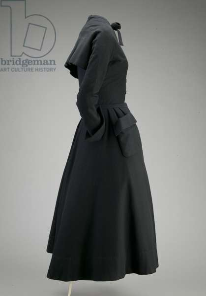 Day dress, 1948 (side view), Wool melton, Christian Dior, France