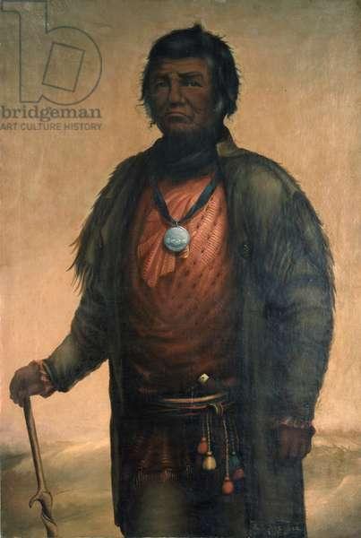 Portrait of Shabbona, Potawatomi Chief, 1859 (oil on canvas)