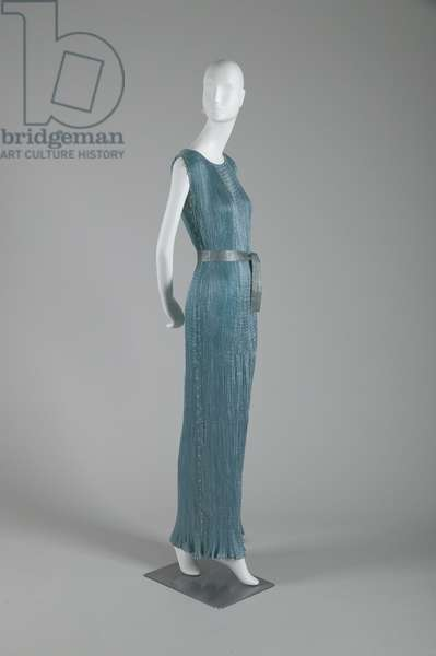 Delphos dress, 1948 (front oblique view), Pleated silk, Mariano Fortuny, Italy