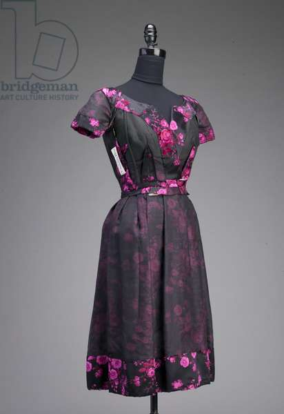 Evening gown, c.1953 (front oblique view, inside-out), Silk velour, Christian Dior, France