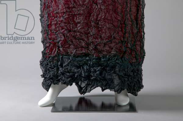 Evening gown, c.1990 (front detail view of hem), Wrinkled polyester, Issey Miyake, Japan.
