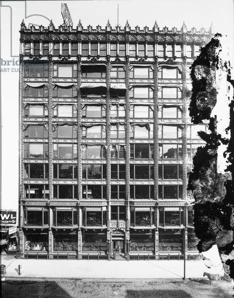 Brunswick Building, Chicago, Illinois, USA, c.1900 (b/w photo)