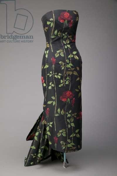 Evening dress, 1957 (front oblique view), Silk taffeta, Christian Dior, Paris