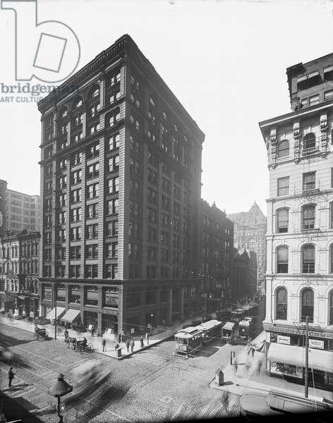 105 West Monroe Street, Chicago, Illinois, USA, c.1895 (b/w photo)