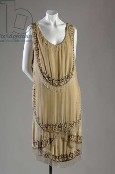 "Evening gown, 1926 (front view), Gabrielle ""Coco"" Chanel, France Silk velvet, rhinestone, glass bead"